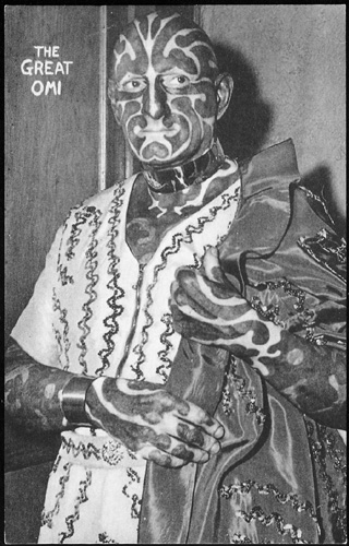 The Great Omi, (alleged) World's Most Heavily Tattooed Man